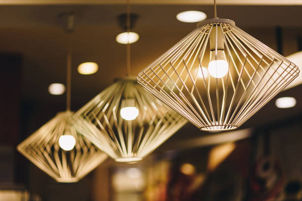 Ceiling lights are beautiful and attractive.In a public market in Bangkok. Ceiling lights are beautiful and attractive.In a public market in Bangkok. chandelier stock pictures, royalty-free photos & images