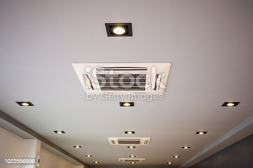 istock Ceiling mounted cassette type air conditioning system 1022556936