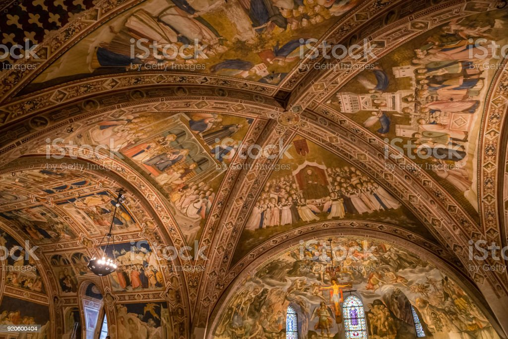 Ceiling Of Basilica Of St.Francis of Assisi- Italy - foto stock