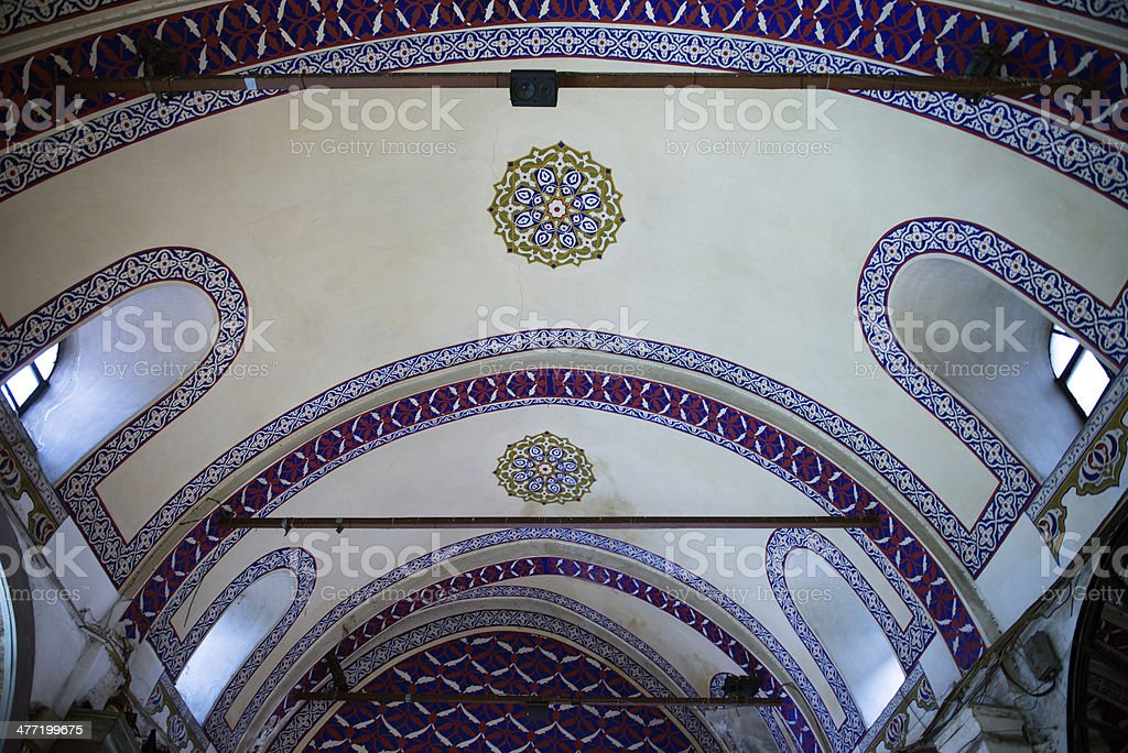 Ceiling of Grand Bazaar royalty-free stock photo
