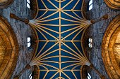 Blue ceiling of St. Giles Cathedral in Edinburgh, Scotland