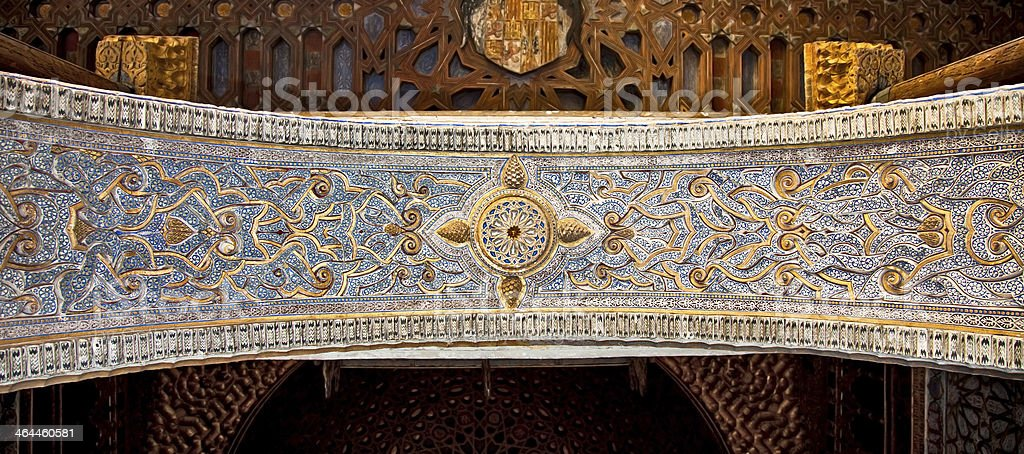 Ceiling of the  Alcazar, Seville,  Spain. royalty-free stock photo