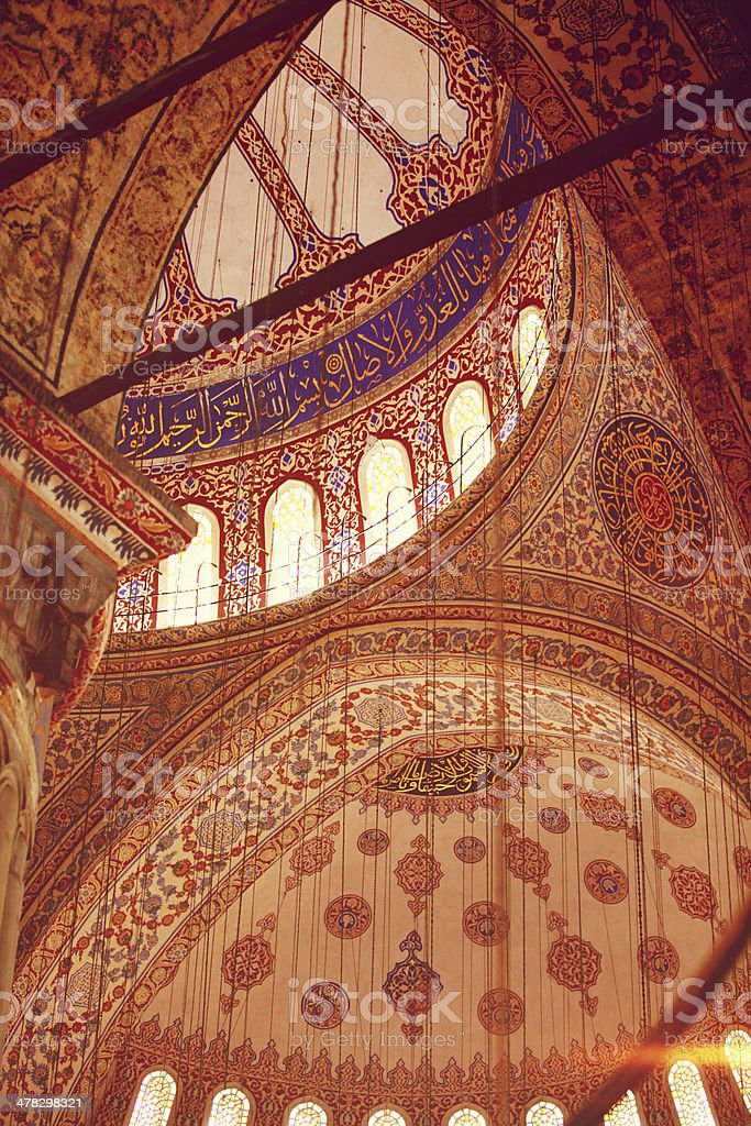 Ceiling Of The Blue Mosque royalty-free stock photo