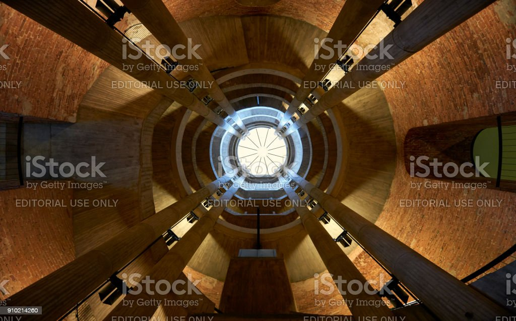 Ceiling of the German/French cathedral at Gendarmenmarkt market in Berlin stock photo