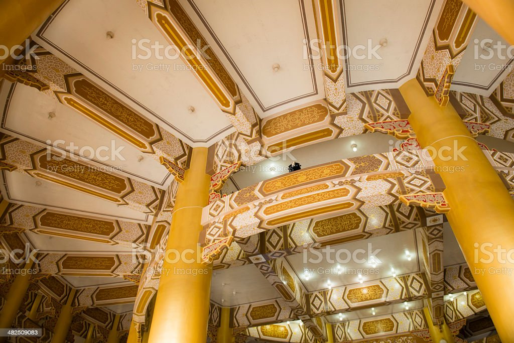 Ceiling of the temple royalty-free stock photo