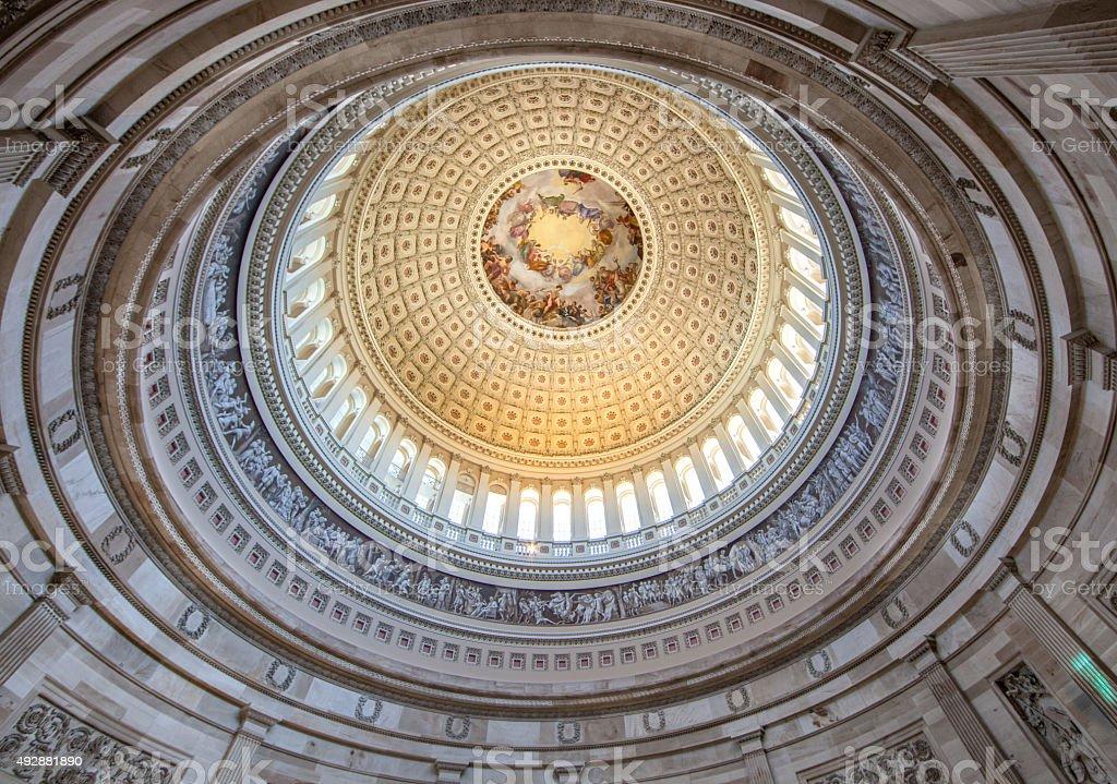Ceiling of the U.S. Capitol Rotunda stock photo