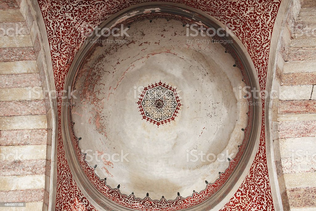Ceiling Painting In Mosque stock photo