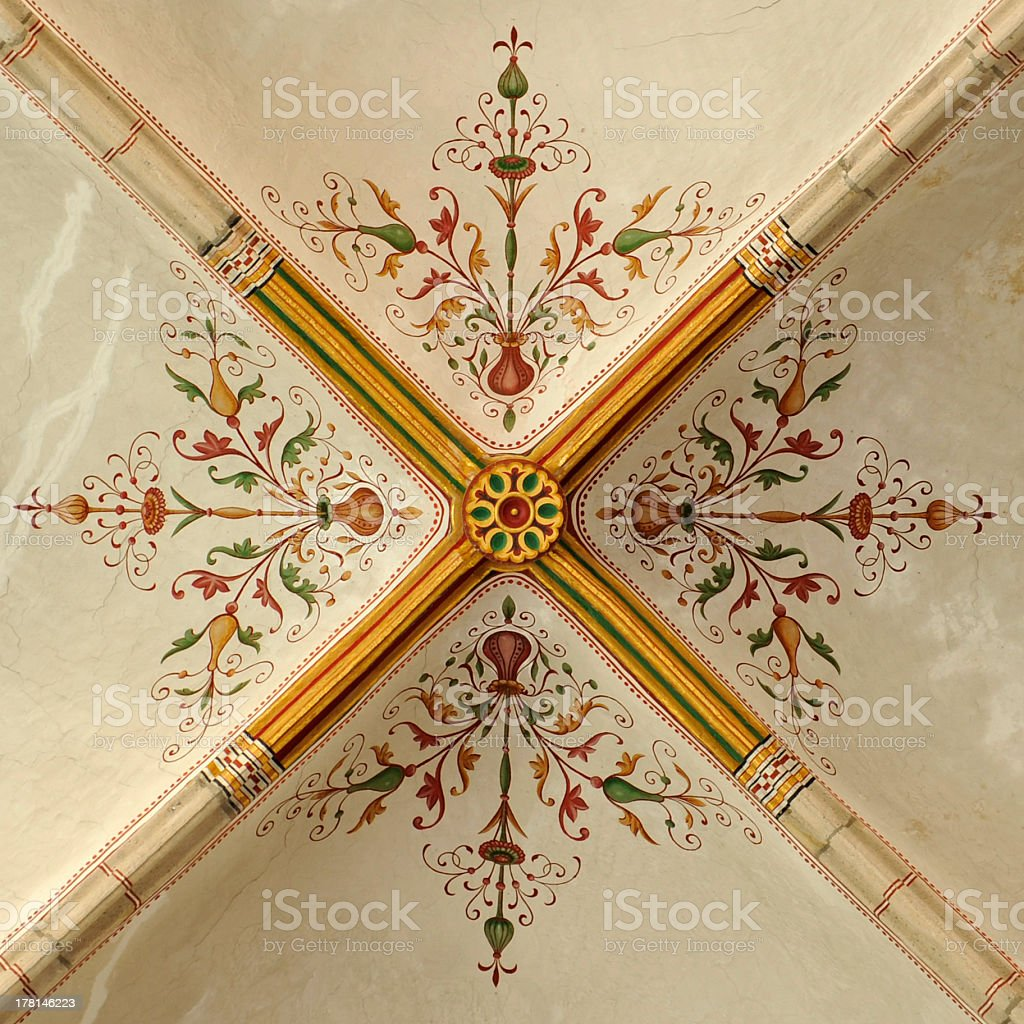 Ceiling painting stock photo