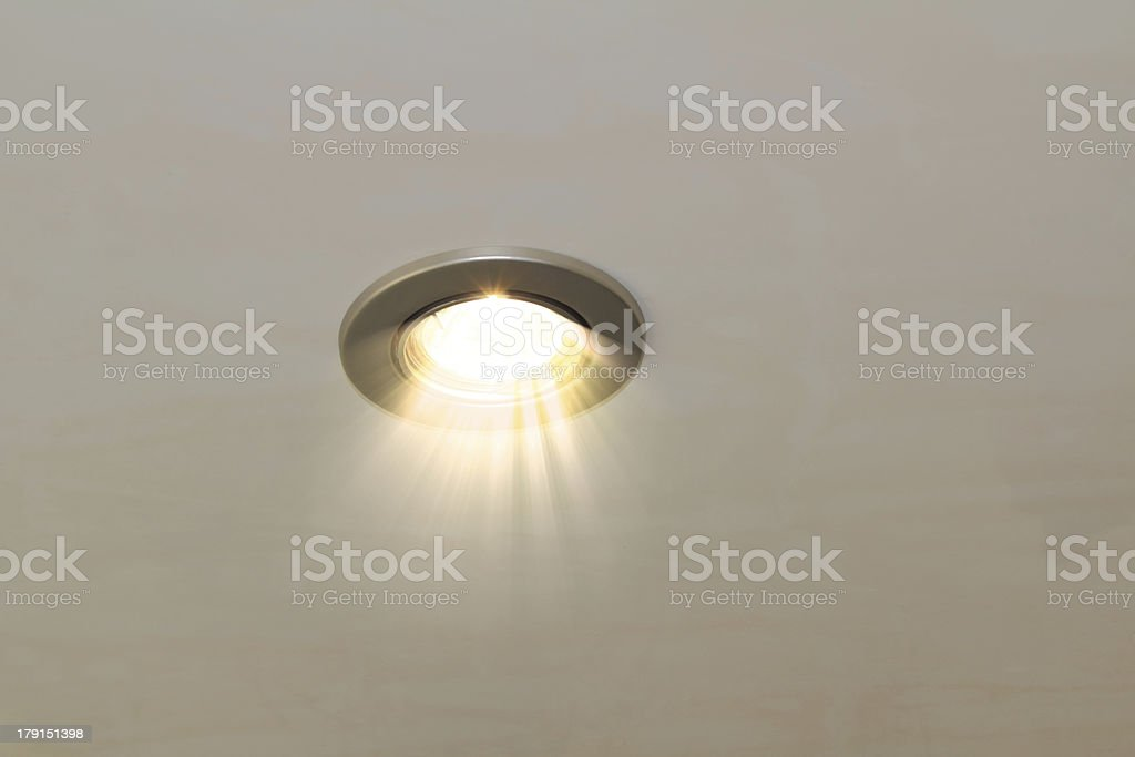 ceiling spot lamp stock photo
