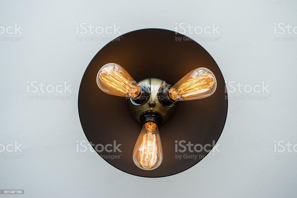 Ceiling vintage lamp photo libre de droits
