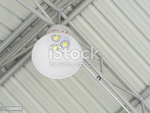 182889461 istock photo LED Ceiling with lamps 1142849502