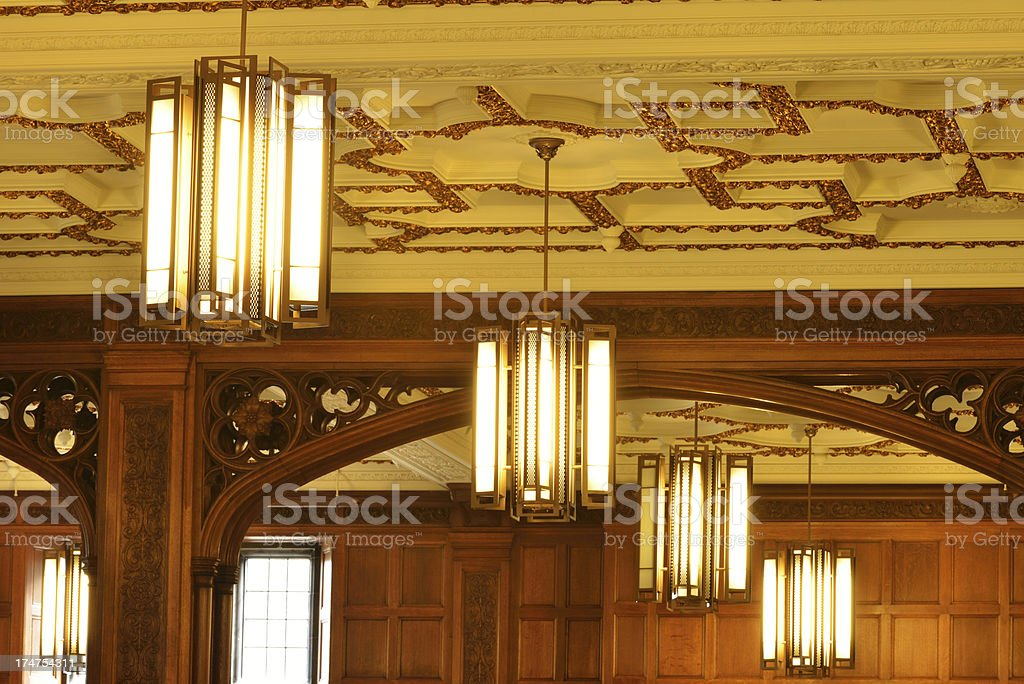 Ceiling with Lamps royalty-free stock photo