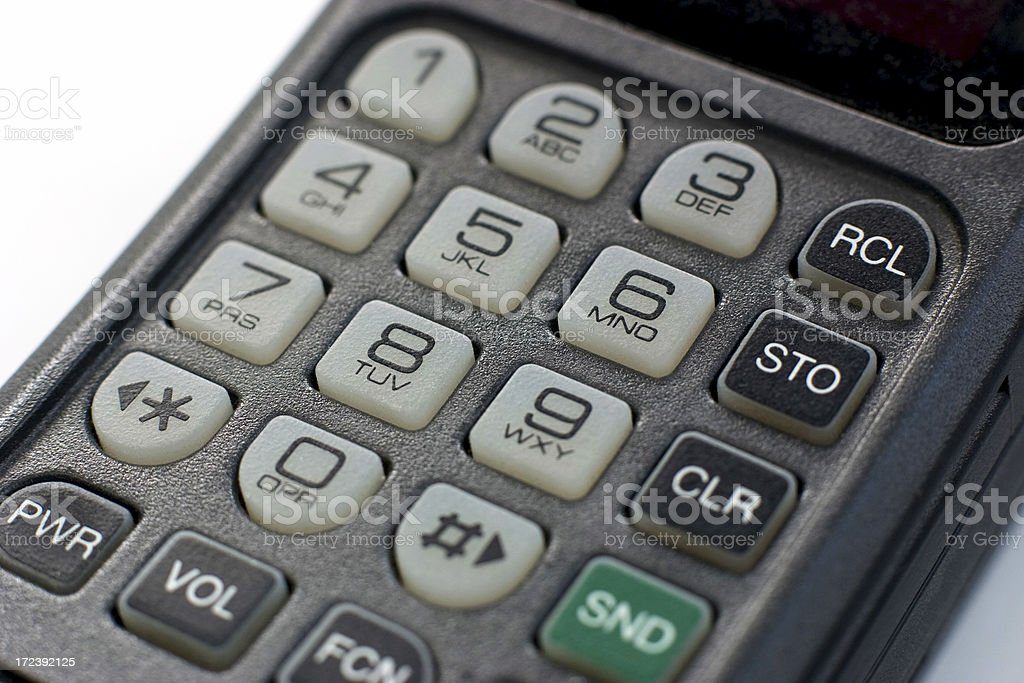 Cel Phone Keypad royalty-free stock photo