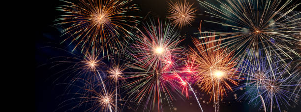 Celabration festive new year firework headline or bannner. Celabration festive new year firework headline or bannner. firework display stock pictures, royalty-free photos & images