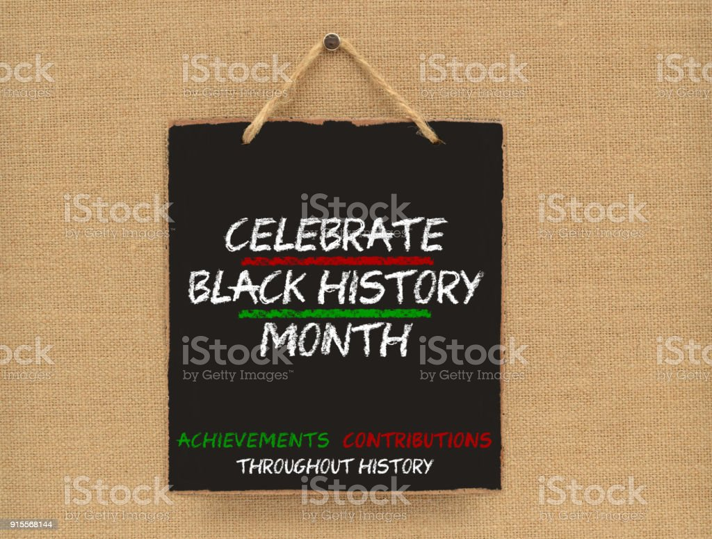 Celebrate Black History Month stock photo
