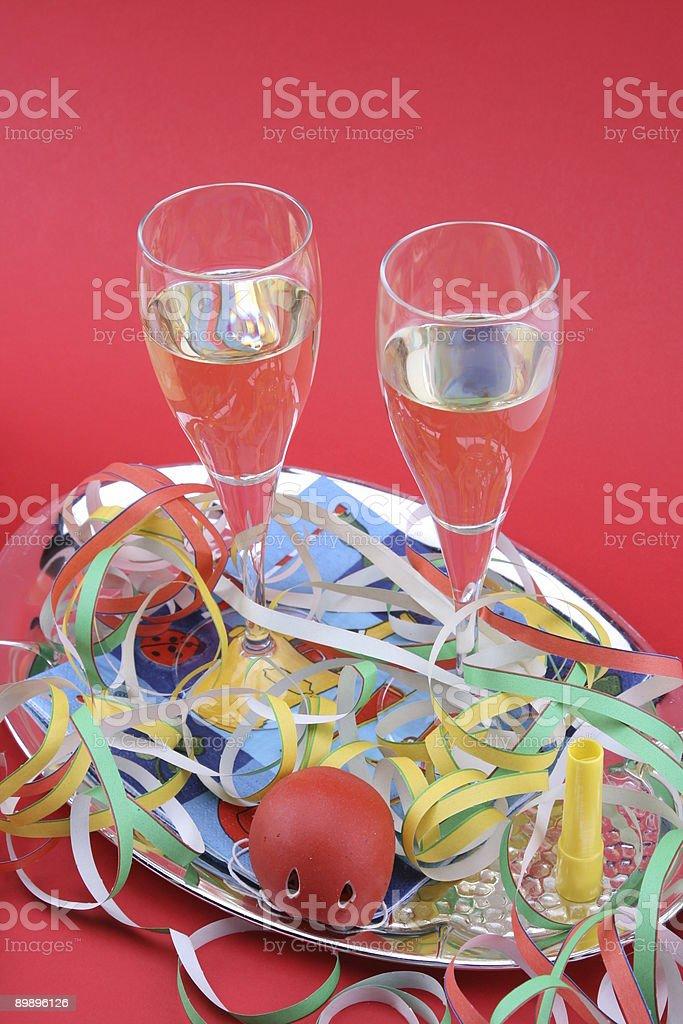 Feiern Sie mit Sekt Karneval Lizenzfreies stock-foto