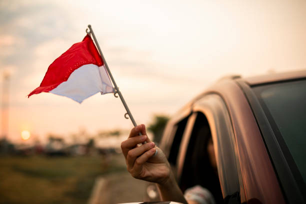celebrate Indonesia Independence Day stock photo