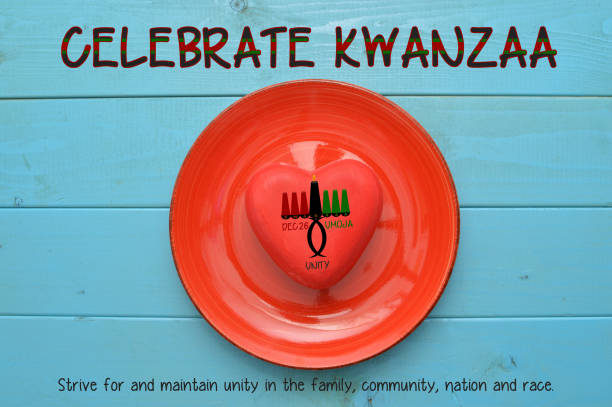 celebrate kwanzaa - kwanzaa stock pictures, royalty-free photos & images