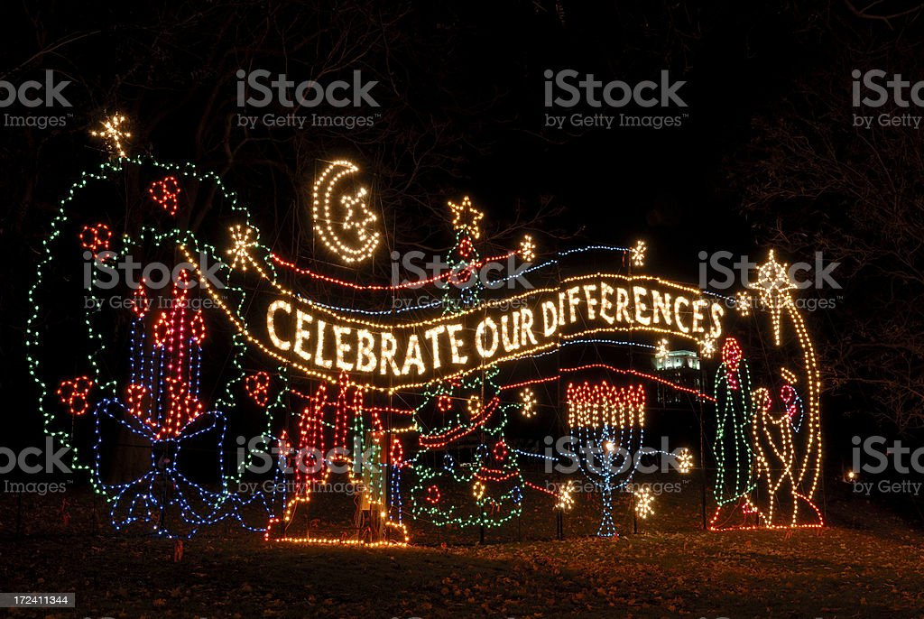 Celebrate Our Difference royalty-free stock photo