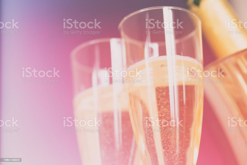 Celebrate with Champagne stock photo