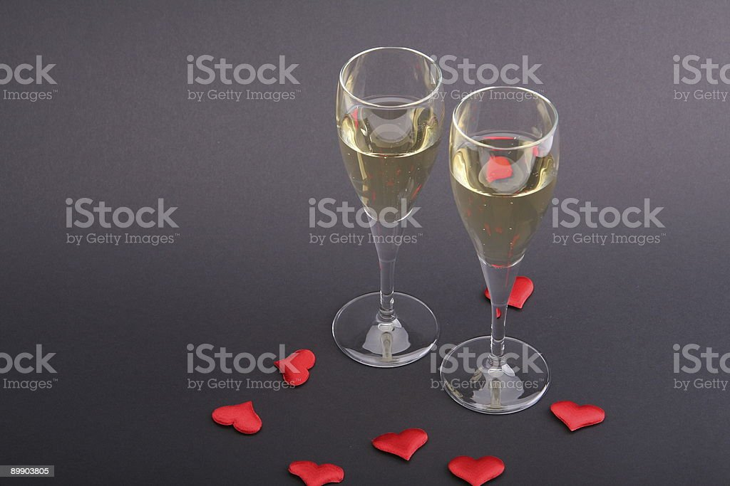 Celebrate with Hearts royalty-free stock photo