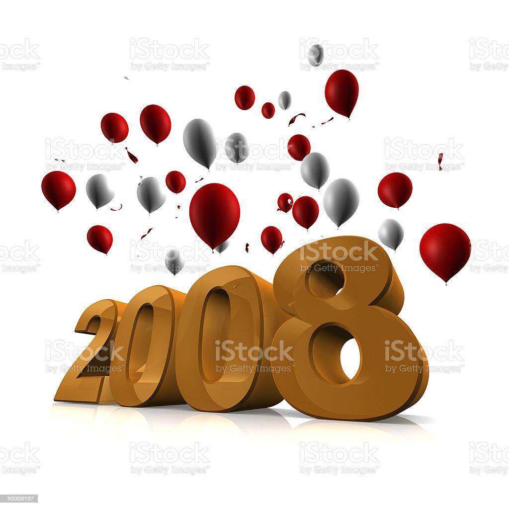 Celebrate Year 2008 royalty-free stock photo