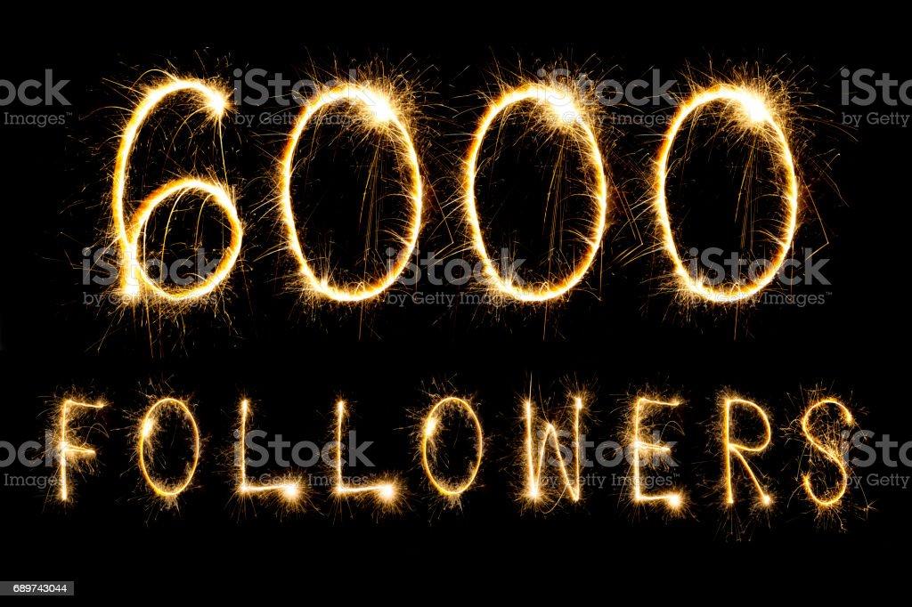 Celebración de 6000 seguidores - foto de stock