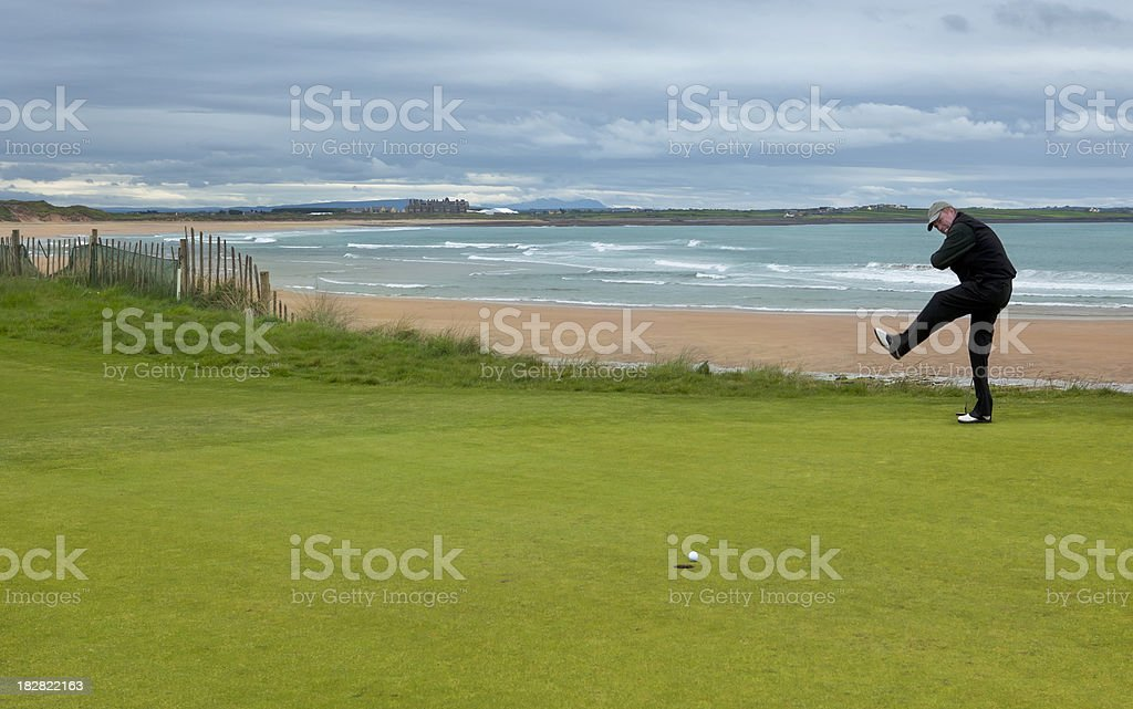 Celebrating a Birdie Putt royalty-free stock photo