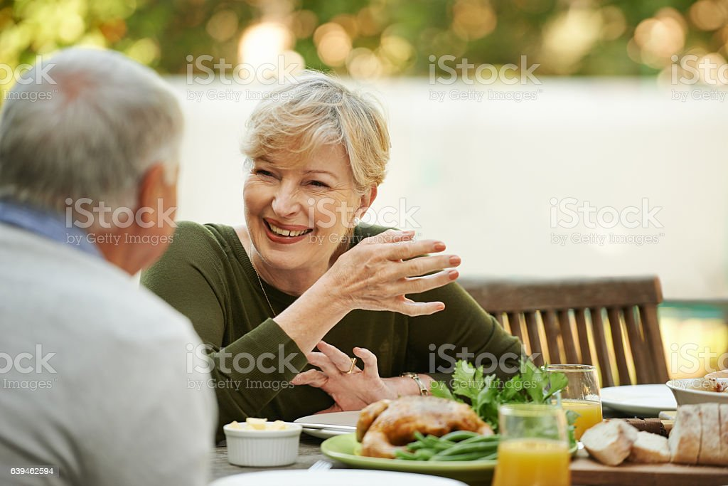 Celebrating a life lived in love stock photo