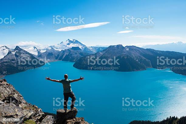 Photo of Celebrating a personal victory in stunning nature