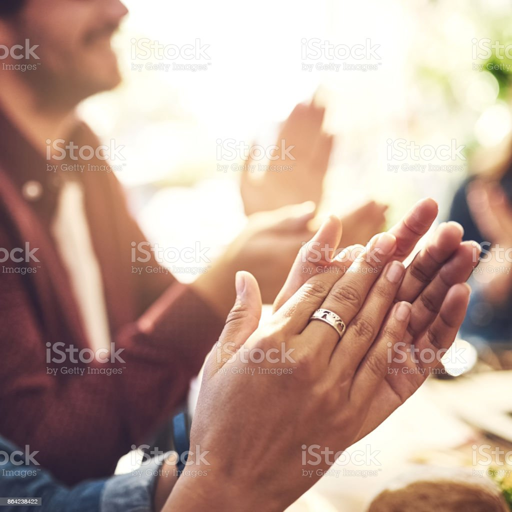 Celebrating another great meeting royalty-free stock photo