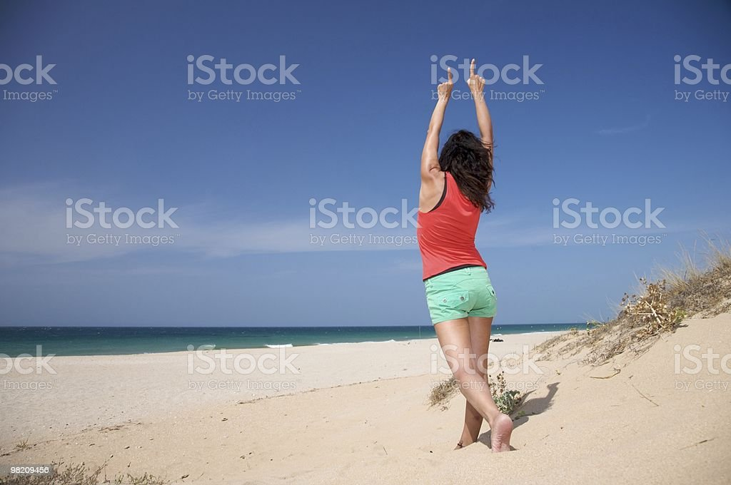 celebrating at the beach royalty-free stock photo