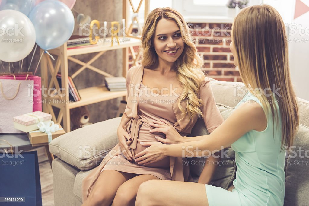 Celebrating baby shower - foto de stock