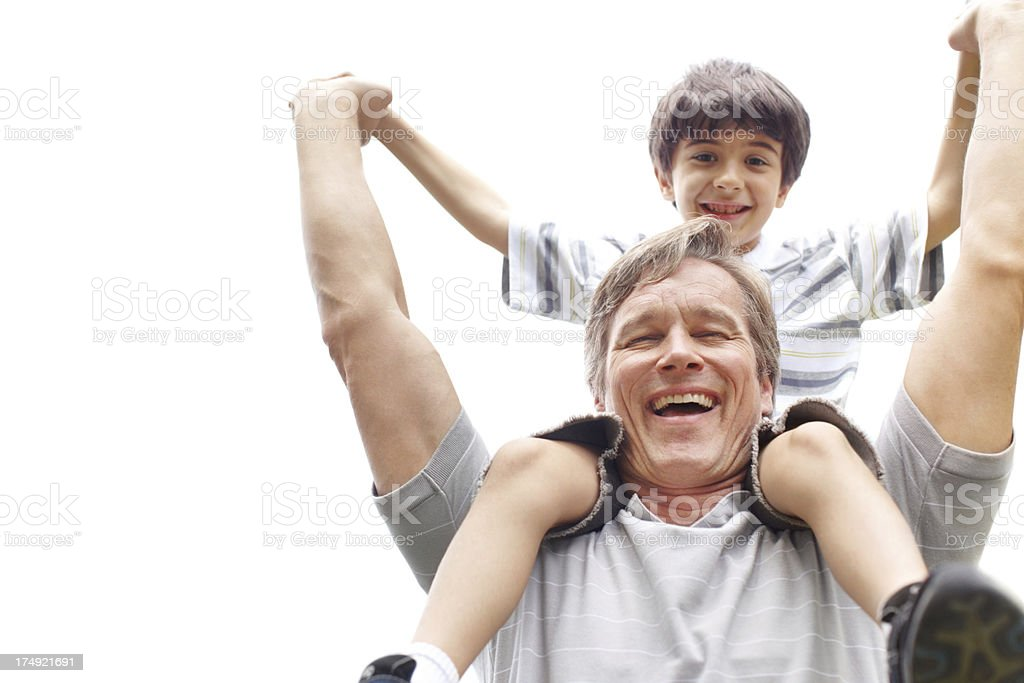 Celebrating being a father! royalty-free stock photo