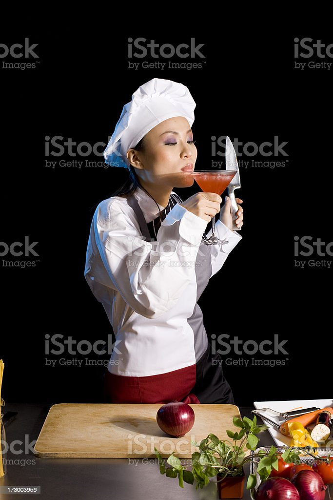 Celebrating chef royalty-free stock photo