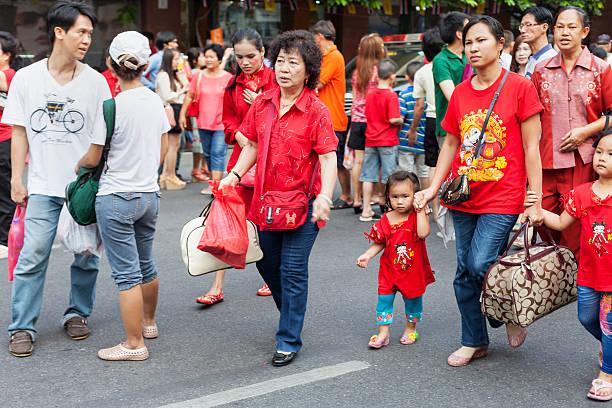 Pour célébrer le Nouvel an chinois à Chinatown, Bangkok. - Photo