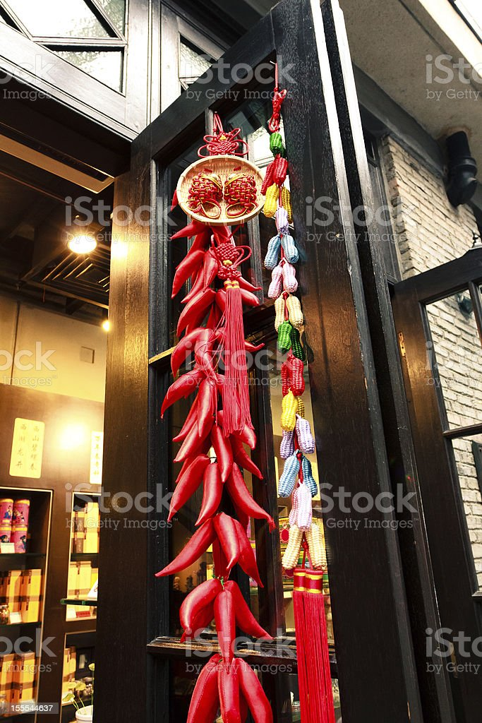 Celebrating Chinese new year royalty-free stock photo