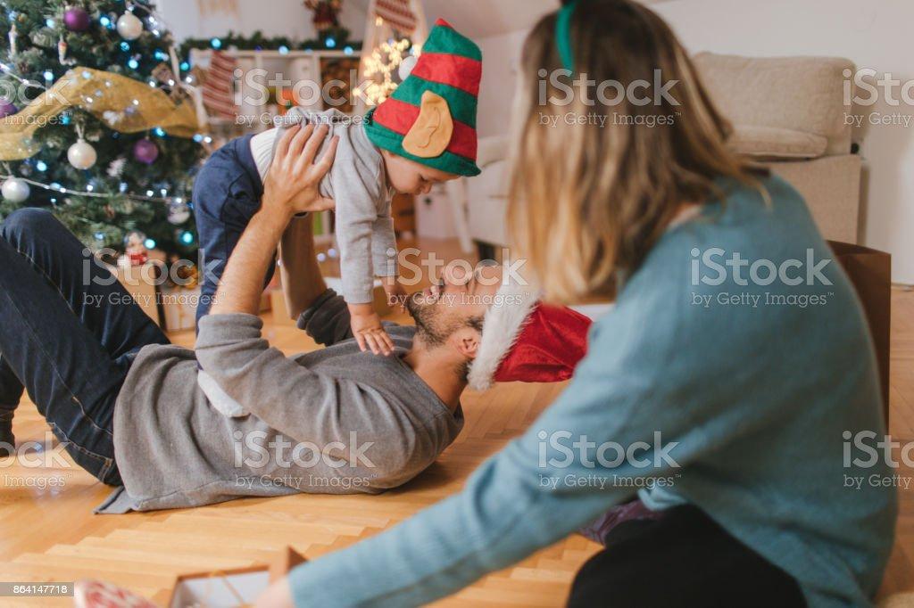 Celebrating Christmas together royalty-free stock photo