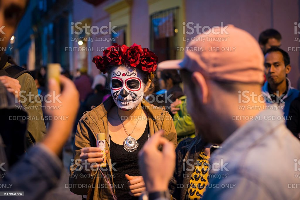 Celebrating Day of the Dead in Oaxaca, Mexico stock photo