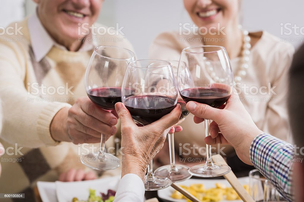 Celebrating fact that we have each other! stock photo