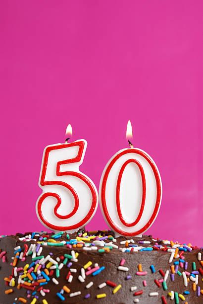 wir feiern 50 jahre - einladungskarten kindergeburtstag stock-fotos und bilder