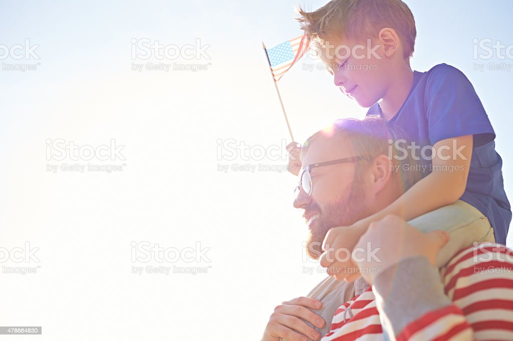 Celebrating Independence Day stock photo