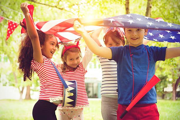 Celebrating independence day stock photo