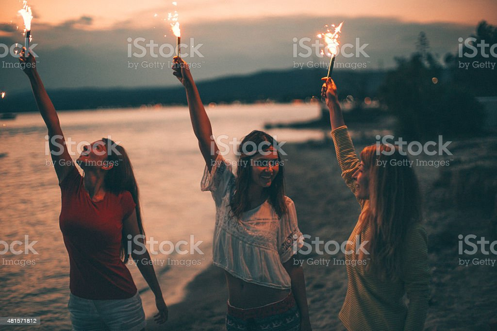 Celebrating life stock photo