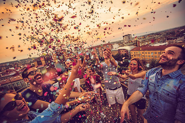 celebrating life! - public celebratory event stock photos and pictures