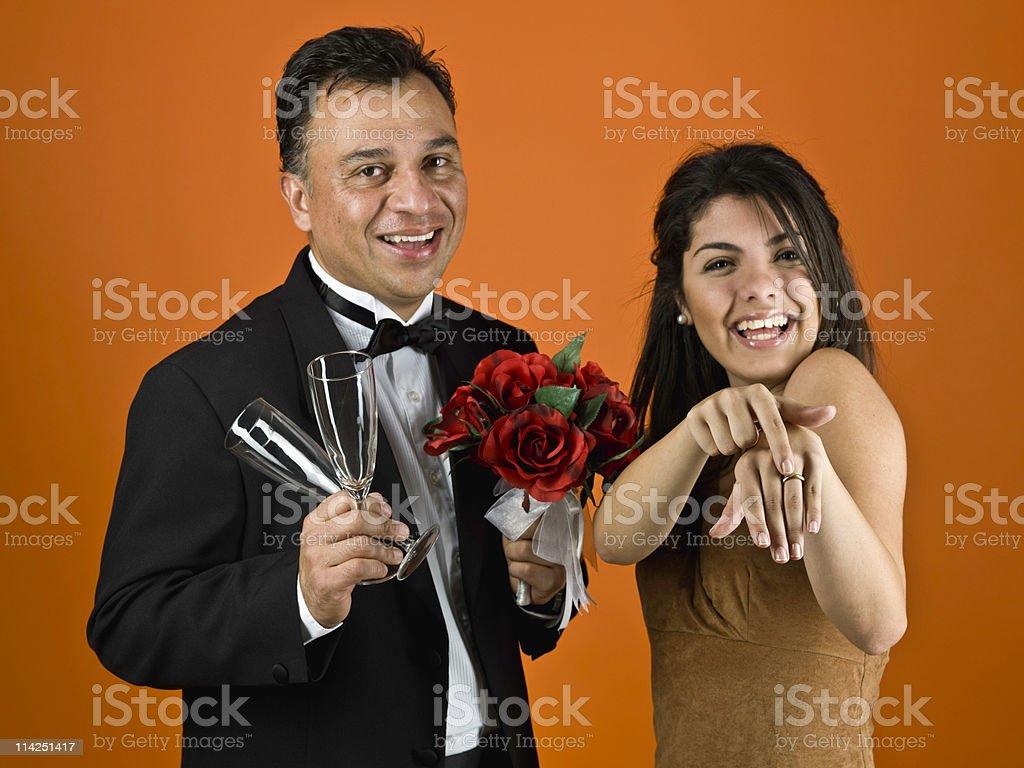 Celebrating Marriage royalty-free stock photo