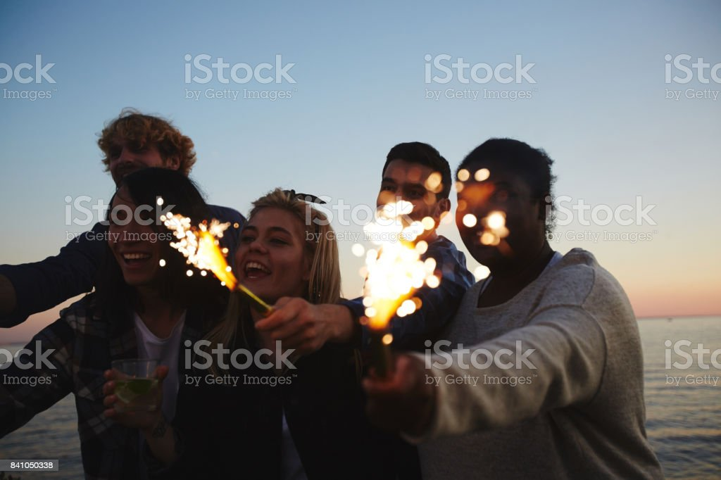 Celebrating Momentous Event with Friends stock photo