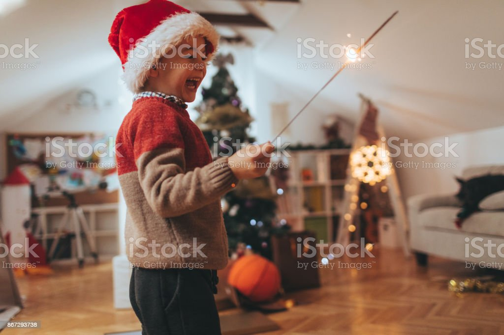 Celebrating New Year stock photo