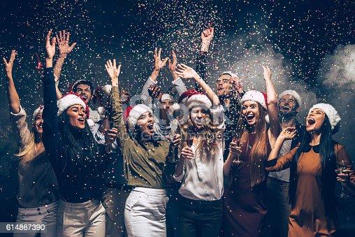 istock Celebrating New Year together. 614867390