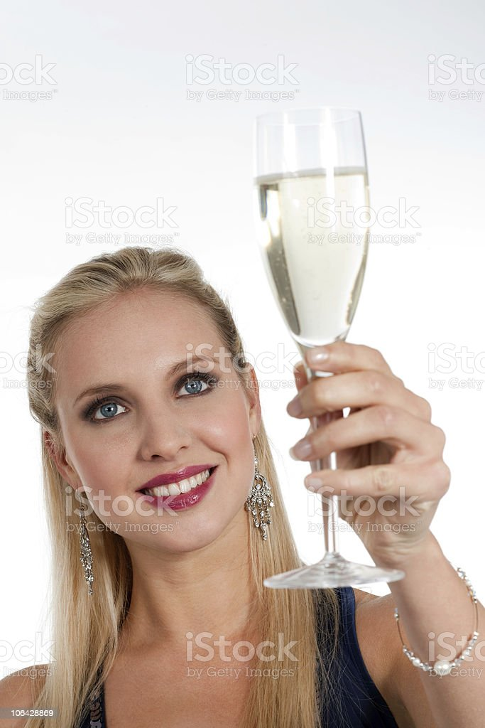 Celebrating new Years'Eve or Birthday stock photo